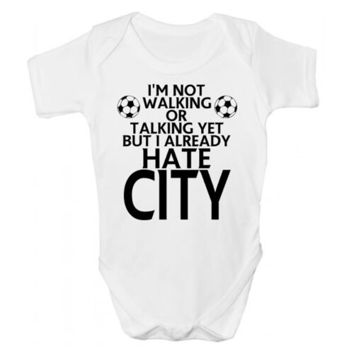 Sleepsuit Funny Manchester Babies Clothing Funny Manchester UTD Baby Grow