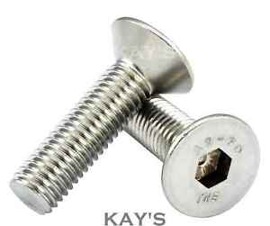 ACCIAIO Inossidabile A2 Allen Key Presa Viti Bulloni Svasati M3 M4 M5 M6 M8 M10