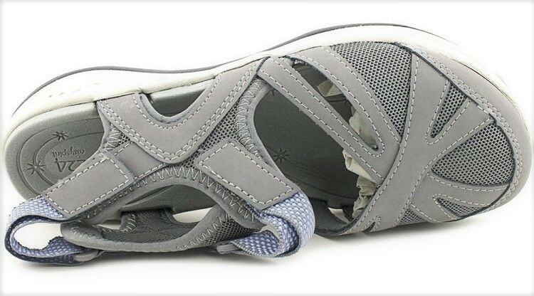 Easy Spirit Splash athletic grey walking shoe pelle mesh grey athletic sz 6 WIDE New cfea21