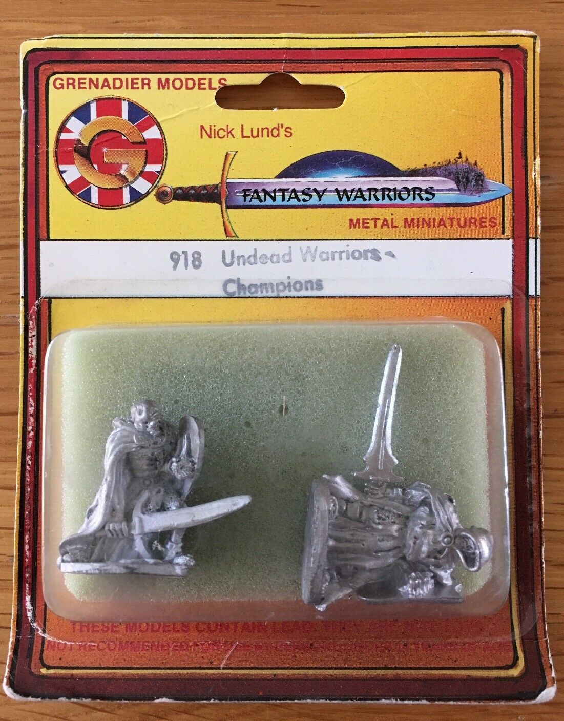 Grenadier Fantasy Warriors D&D Undead Warriors Champions Metal Miniature Blister