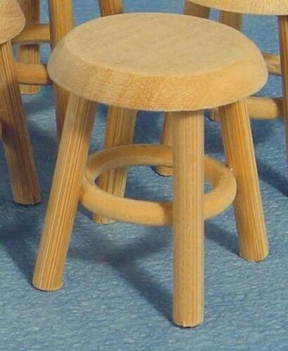 Bare Taburete de madera casa de muñecas en miniatura Muebles Accesorio Taburete de niños