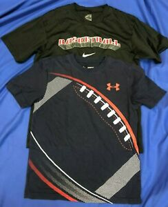 NIKE-UNDER-ARMOUR-Knit-Youth-Boys-T-Shirt-HEATGEAR-BASEBALL-FOOTBALL-Sz-M