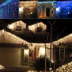 Connectable 5m 10m Outdoor Led Icicle Christmas Lights