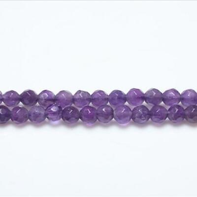 Pcs Gemstones DIY Jewellery Making Crafts Amethyst Round Beads 6mm Purple 60