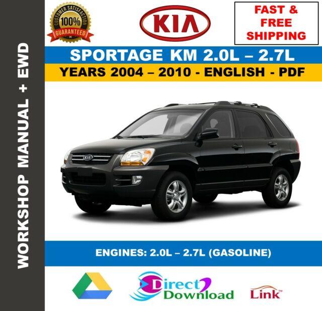 Workshop Manual Kia Sportage Km  2 0l