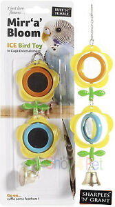 PET-Bird-TOY-FOR-CAGE-2-Revoling-Mirrors-and-Bell-Toy-Budgie-Parakeet-Cockatiel