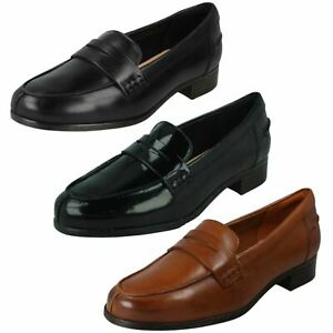Ladies Clarks 'Hamble Loafer' Black Or