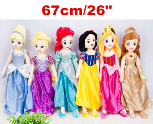 Sofia Aurora Ariel Cinderella Princess Plush Stuffed Toys Soft Dolls Pillow Doll