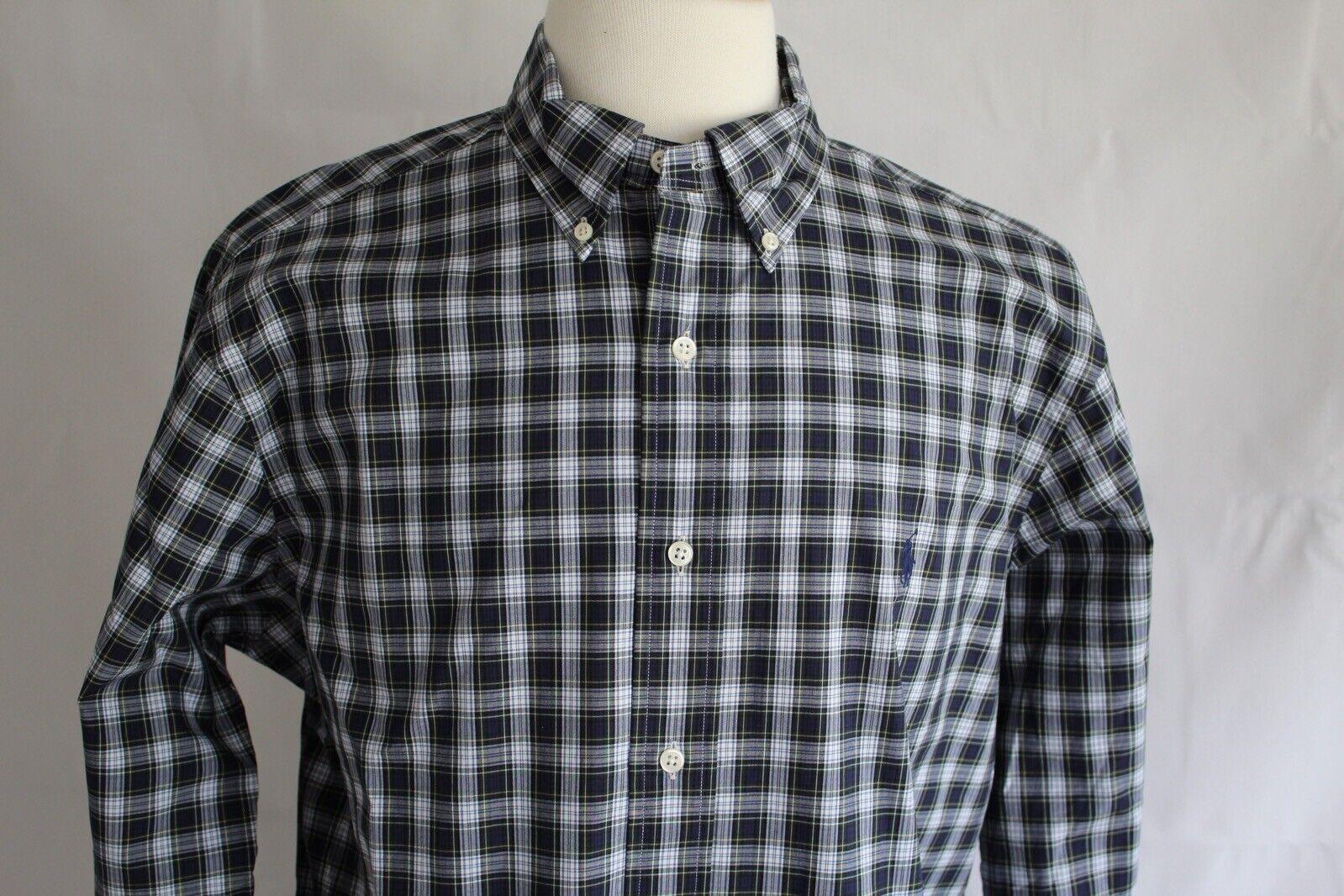 Ralph Lauren Men's Long Sleeve Classic Fit Button Down Shirt size L New
