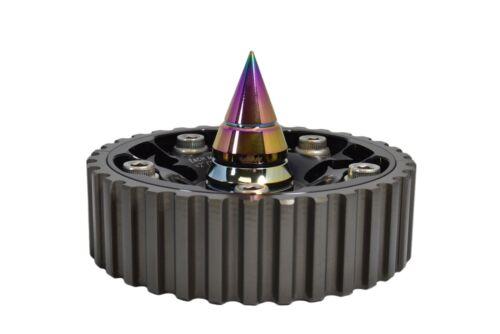 VMS RACING CAM GEAR BOLTS W// SPIKES NEOCHROME FOR HONDA PRELDUE DOHC H22 H23
