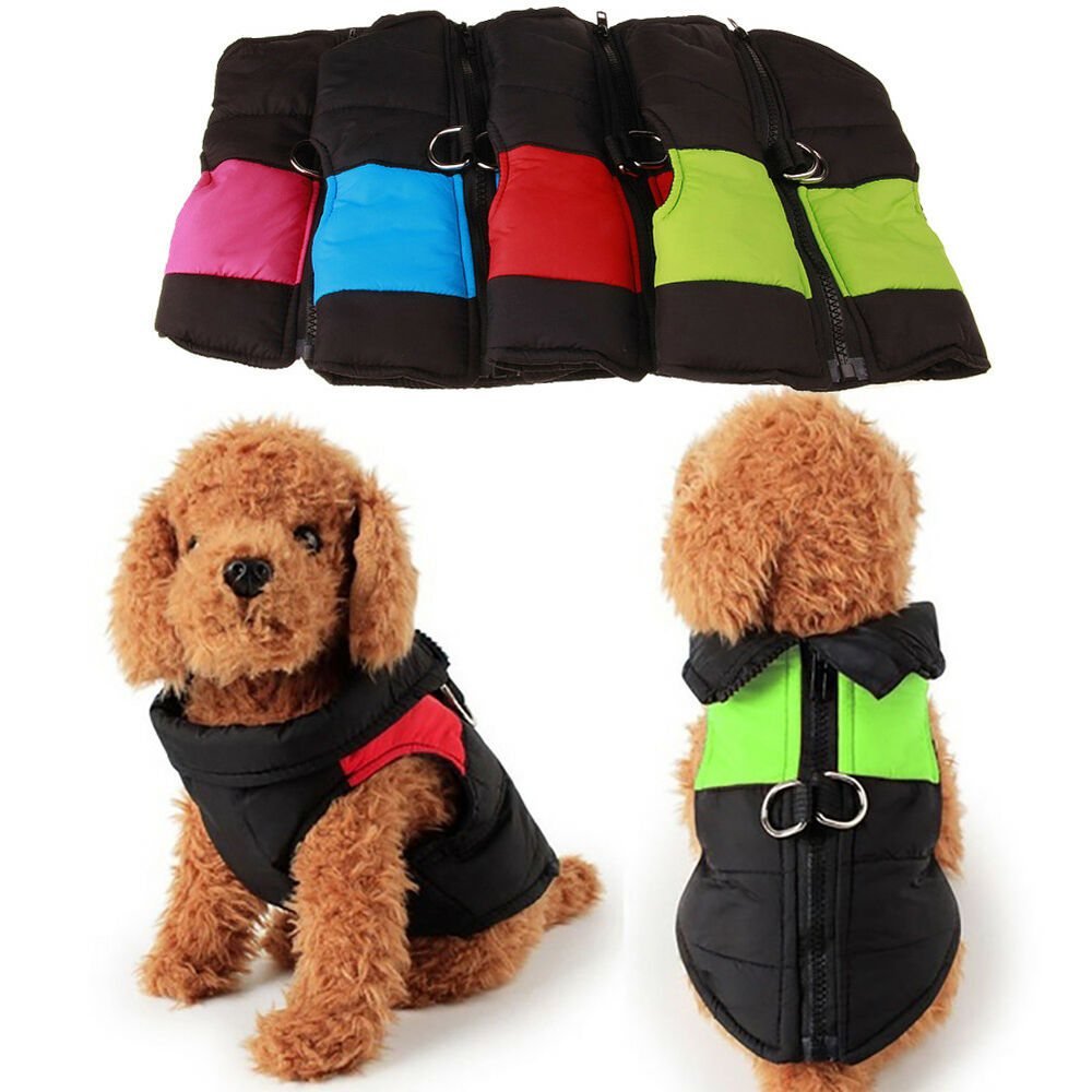 Warm Pet Dog Puppy Waterproof Clothes Zipper Jacket Winter Vest Wadded Coat Well Clothing & Shoes