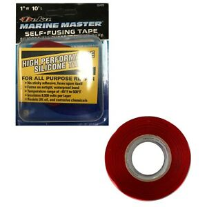 "Deka Marine Master Red Self Fusing Silicone Auto Rescue Tape 1"" x 10' FT - USA"