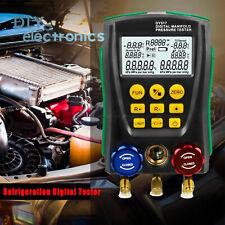 Refrigeration Digital Manifold Hvac Gauge System Kit Meter Vacuum Pressure Us
