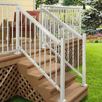White Aluminum Stair Hand and Base Rail Brackets For Peak ...