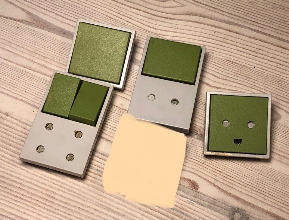 Ny & ubrugt grøn tangent t/Plantangent afbryder mm, LK NES