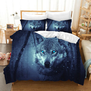 3d Forest Wolf Bedding Set Duvet Cover Comforter Cover Pillow Case Ebay