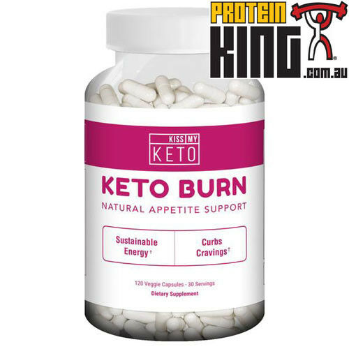 KISS MY KETO BURN 120 CAPS NATURAL APPETITE SUPPORT SUSTAINABLE ENERGY FAT BURN