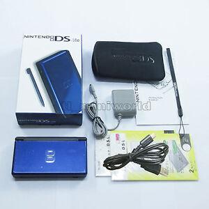 Brand-New-Cobalt-Blue-amp-Black-Nintendo-DS-Lite-HandHeld-Console-System-gifts