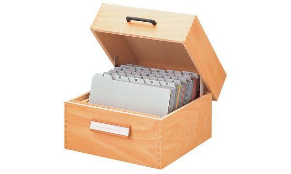 HAN Holz-Karteikasten DIN A5 quer quer quer für 500-900 Karten Karteibox Naturholz stabil | Praktisch Und Wirtschaftlich  | Moderne Muster  | Ausgezeichnet (in) Qualität  f1714a