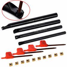 4x 7//8//10//12mm SCLCR06 Lathe Boring Bar Turning Tool Set+10pc CCMT060204 Inserts
