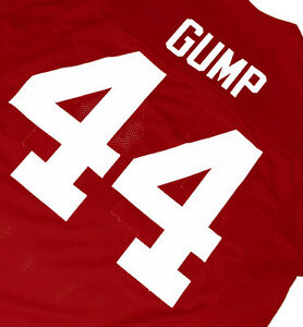 FORREST GUMP #44 MOVIE JERSEY  FOOTBALL  RED SEWN   NEW   ANY SIZE