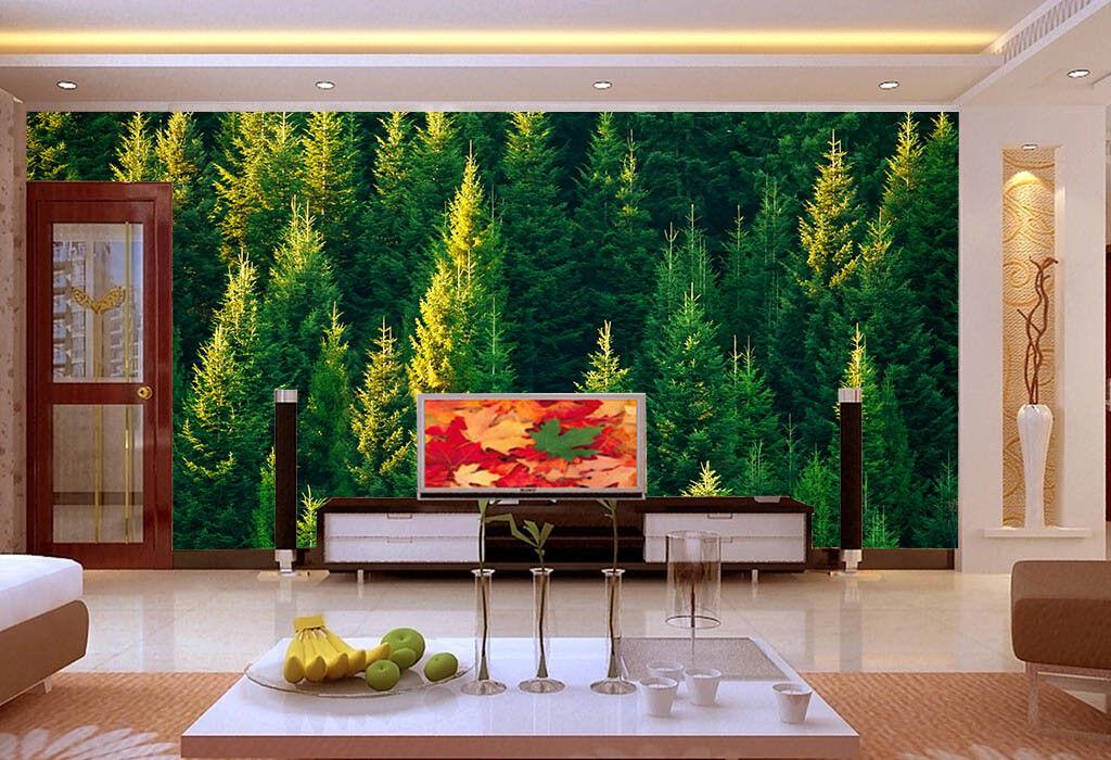 3D Grün Pine Forest 67 Wall Paper Wall Print Decal Wall Deco Indoor Mural Lemon