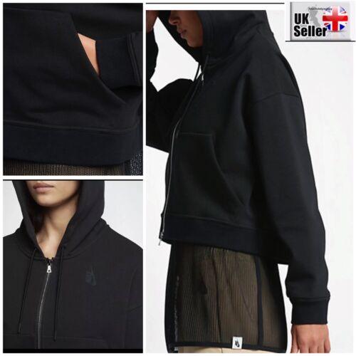 Polaire Nike Capuche Lab Essentials Noir Femmes Moyen Court Sweat 9HEID2