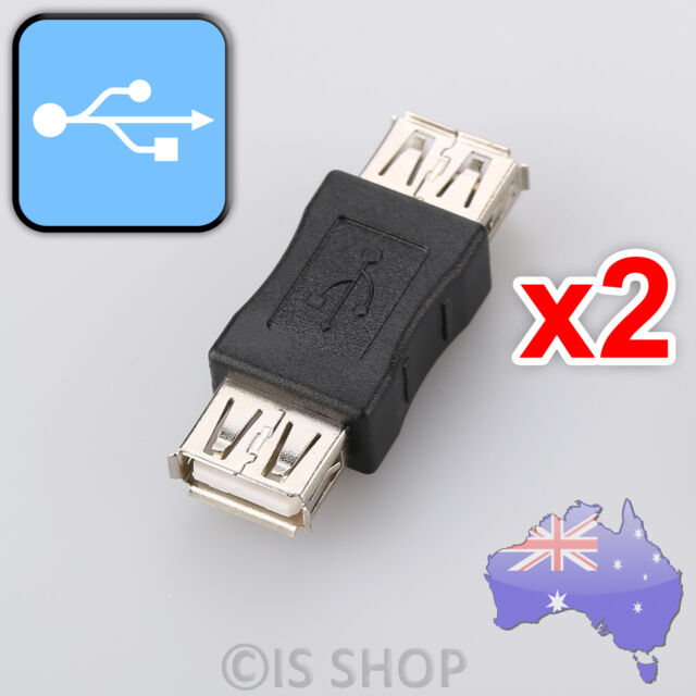 2x USB 2.0 A Female to Female Coupler Adapter Connector Connector Extension Plug