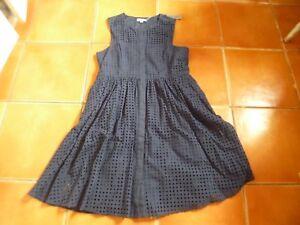 Navy Dress Sleeveless Eyelet Whistles Anglaise Blue 16 Broderie Bnwt Aq5CTwz15