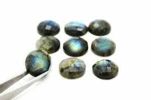 10mm-Round-Natural-AA-Labradorite-Faceted-Cabochon-Gemstone-Loose-Bulk-Gem-Sale