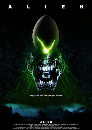 Alien Sci-Fi Space Horror Movie Film Poster Print Picture A3 A4