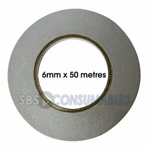 2-Pack-of-Double-Sided-Tape-6mm-x-50-metres-Self-Adhesive-Sticky-Craft-Tape
