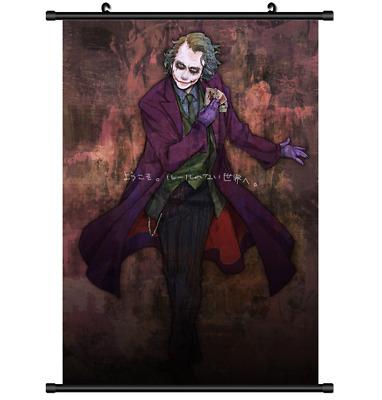 Hot Anime Suicide Squad Batman Harley Quinn Joker Decor Poster Wall Scroll D