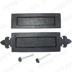 BLACK ANTIQUE LETTER BOX PLATES 2 DESIGNS Classic Front Door Post ...
