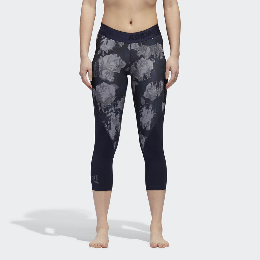 Adidas Wmns Alphaskin Sport 3 4 Tights New Legendary Ink Grey Women DH3577