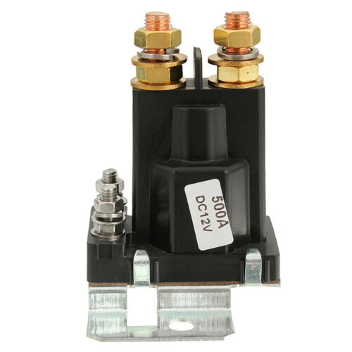Car SUV Truck 4 Pin Over 500A Black Plastic AMP DC 12V Relay On//Off Power Switch