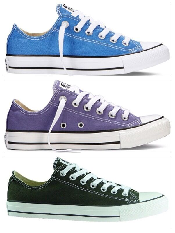 Converse Nuove Unisex HOT colori viola, blu, verde oliva uomo donna ct ox basse Top