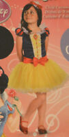 Girls Disney Princess Snow White Shimmer Outfit Halloween Costume M (8-10)