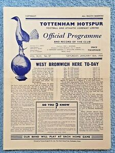 1954-TOTTENHAM-v-WEST-BROM-PROGRAMME-FIRST-DIVISION-53-54