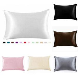 Silk-Pure-Mulberry-Pillow-Case-Pillowcase-Cover-Housewife-Queen-Standard-Cushion