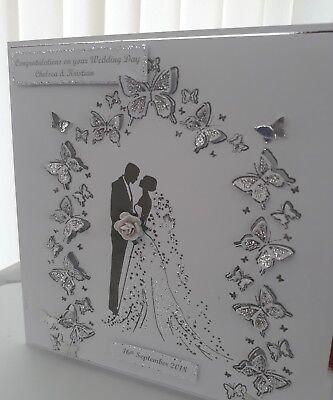 """3d 8x8 Matrimonio Anniversario Congratulazioni Card Fatto A Mano E Personalizzata-s Card Handmade And Personalised """" Data-mtsrclang=""""it-it"""" Href=""""#"""" Onclick=""""return False;""""> Squisita Arte Tradizionale Del Ricamo"""