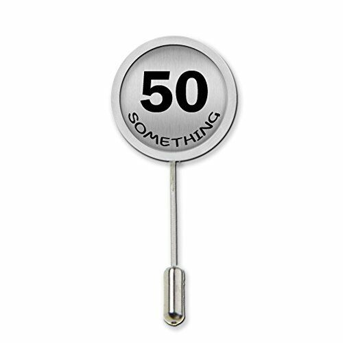50 Something Humour Stick Pin Tie Pin Badge With Protector Birthday Gift c466