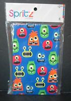8 Spritz Goofy Fun Monsters Favor Bags, Loot Bags, Party, In Sealed Package