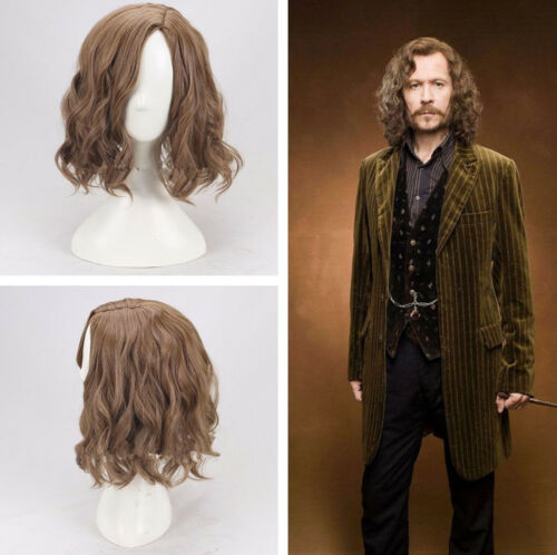Harry Potter Sirius Orion Black Braun Brown Perücke Wig Cosplay Costume Neu