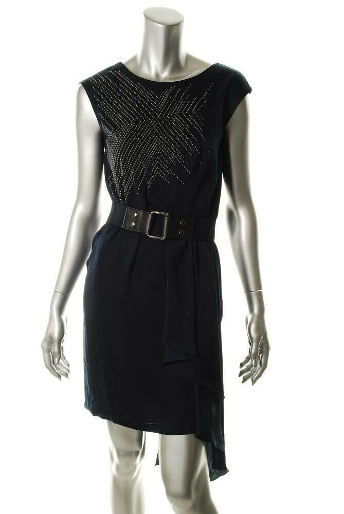BCBGMAXAZRIA RUNWAY WOMEN DRESS  FEMME ROBE  COLOR CARBON-SIZE M   Rrp 358,00