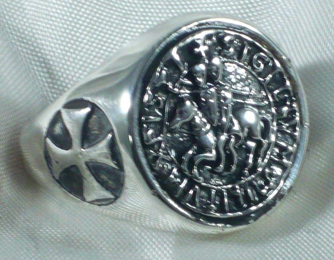 ANNEAU SCEAU TEMPLIERS CROIX silver 925 silver STERLING TEMPLIER KNIGHT ANNEAU