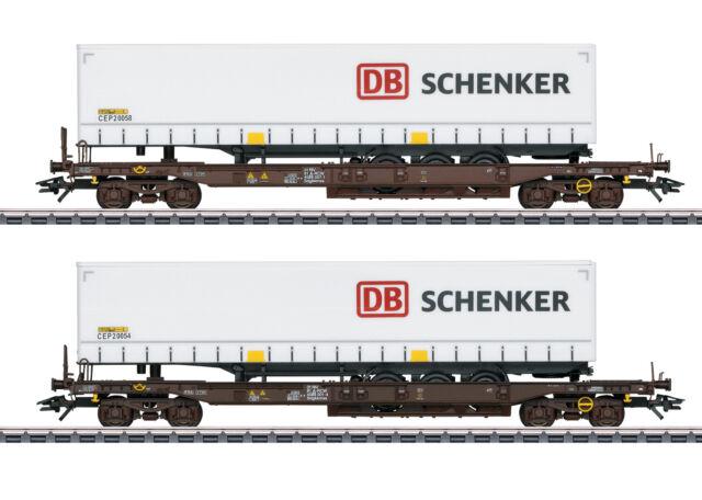 """Märklin H0 47110 Taschenwagen-Set d. Rail Cargo Austria """"Neuheit 2020"""" NEU + OVP"""