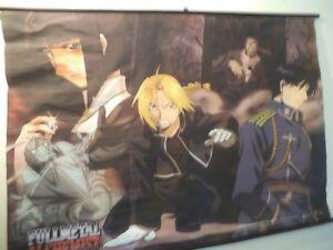 3221 Anime Fullmetal Alchemist Brotherhood wall Poster Scroll cosplay A