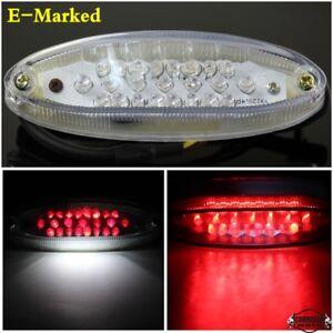 E-marque-12-V-Universel-Moto-DEL-Frein-Stop-Feu-Arriere-Avec-Plaque-D-039-immatriculation-Lampe
