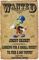 Jiminy Cricket Wanted Poster Fridge Magnet. 3.5 X 5. Disneyland....free Ship